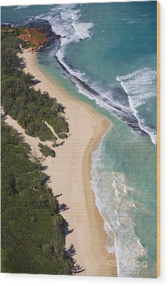 Baldwin Beach Wood Print by Ron Dahlquist - Printscapes