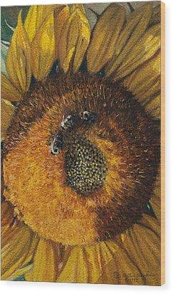3 Bees Wood Print by Peter Muzyka