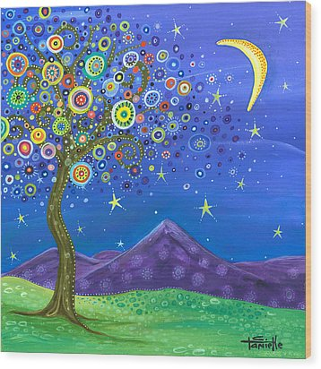 Believe In Your Dreams Wood Print by Tanielle Childers