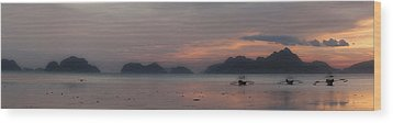 3 Boats Wood Print by John Swartz