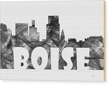 Boise Idaho Skyline Wood Print by Marlene Watson