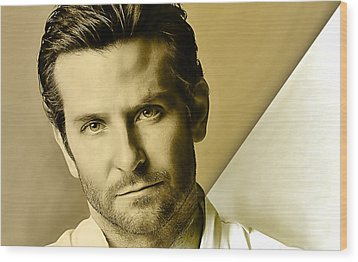 Bradley Cooper Collection Wood Print