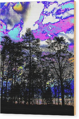 Brash Braddock Sunset Wood Print