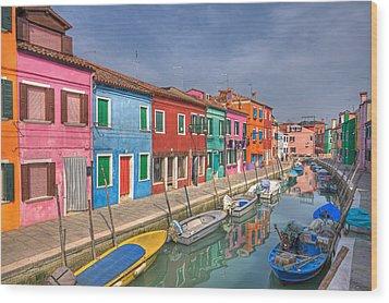 Burano - Venice - Italy Wood Print by Joana Kruse