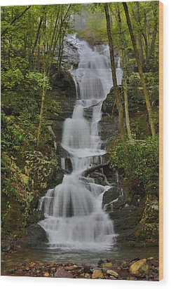 Wood Print featuring the photograph Buttermilk Falls by Stephen  Vecchiotti