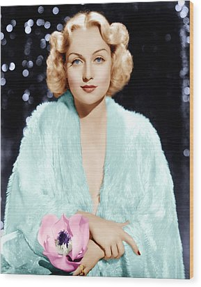Carole Lombard, Ca. 1930s Wood Print by Everett