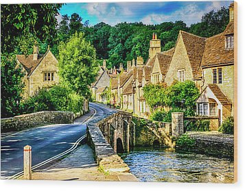 Castle Combe Village, Uk Wood Print