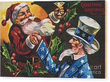 Christmas Card Wood Print by Granger