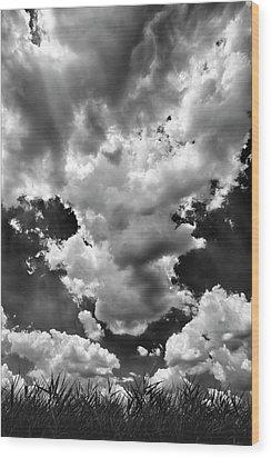 Clouds Wood Print by Robert Ullmann
