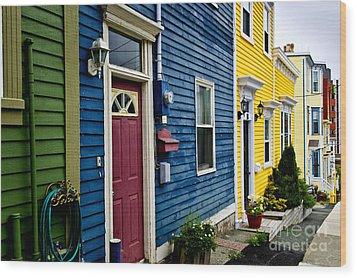 Colorful Houses In St. John's Wood Print by Elena Elisseeva