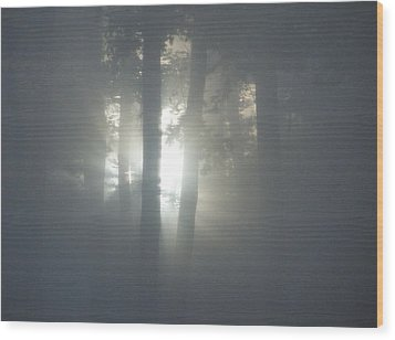 Daybreak Of Creation Wood Print