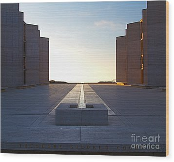 Design And Architecture Of The Salk Institute In La Jolla Califo Wood Print by ELITE IMAGE photography By Chad McDermott