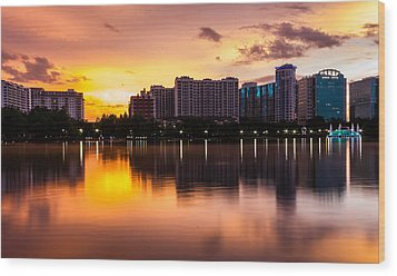 Downtown Orlando Wood Print