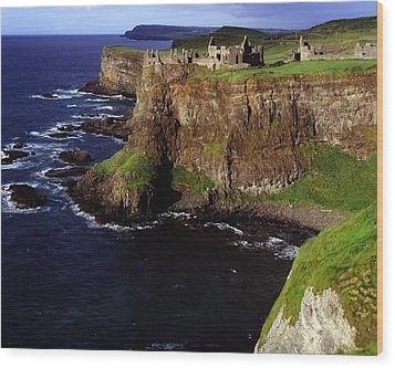 Dunluce Castle, Co. Antrim, Ireland Wood Print by The Irish Image Collection