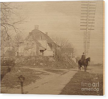 Dyckman Farmhouse  Wood Print by Cole Thompson