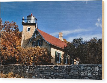 Eagle Bluff Lighthouse Wood Print by Joel Witmeyer