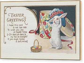 Easter Greetings Wood Print