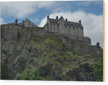 Wood Print featuring the photograph Edinburgh Castle In Scotland by Jeremy Lavender Photography