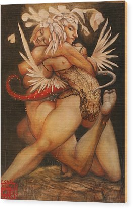 Embrace Of The Virgosis Wood Print by Ralph Nixon Jr