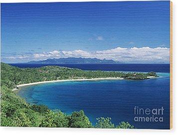 Fiji Wakaya Island Wood Print by Larry Dale Gordon - Printscapes