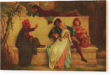 Wood Print featuring the painting Florentine Poet by Alexandre Cabanel