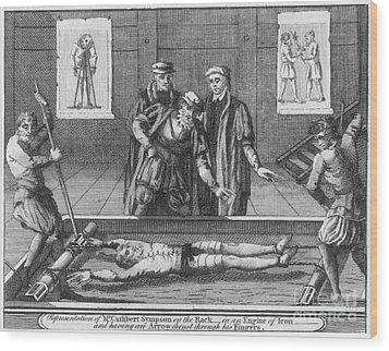 Foxe: Book Of Martyrs Wood Print by Granger
