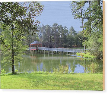 Wood Print featuring the photograph Gazebo On The Lake by Diane Ferguson