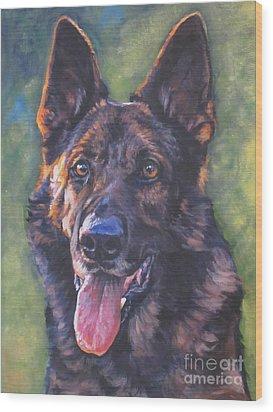German Shepherd Wood Print by Lee Ann Shepard