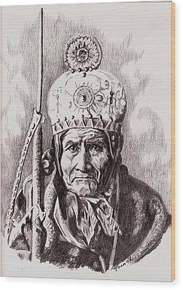Geronimo Wood Print by Toon De Zwart