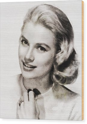 Grace Kelly, Vintage Hollywood Actress Wood Print