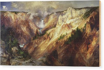 Wood Print featuring the painting Grand Canyon Of The Yellowstone by Thomas Moran