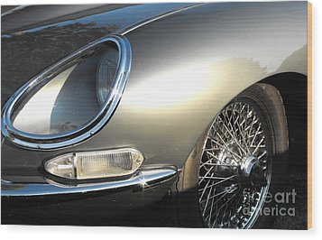 Jaguar E-type Wood Print
