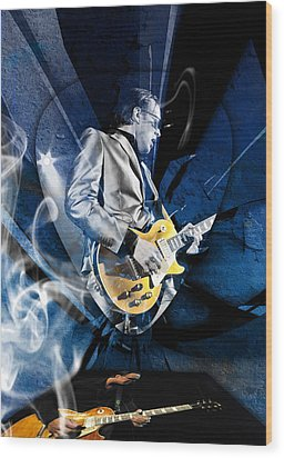Joe Bonamassa Blues Guitarist Art Wood Print by Marvin Blaine
