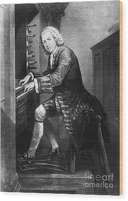 Johann Sebastian Bach, German Baroque Wood Print by Photo Researchers