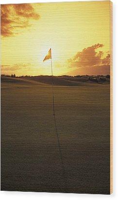 Kapalua Golf Club Wood Print by Carl Shaneff - Printscapes
