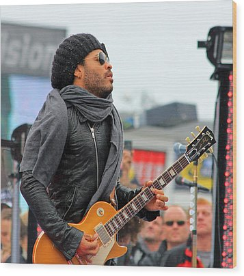 Lenny Kravitz Wood Print by Wild Expressions Photography