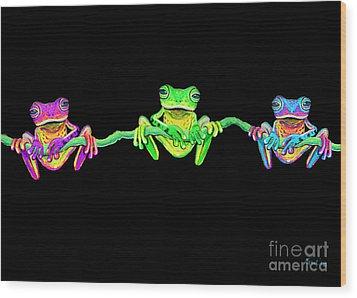 3 Little Frogs Wood Print by Nick Gustafson