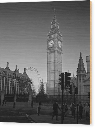 London  Skyline Big Ben Wood Print