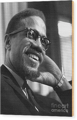 Malcolm X (1925-1965) Wood Print by Granger