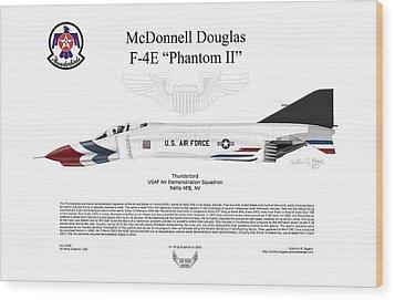 Mcdonnell Douglas F-4e Phantom II Thunderbird Wood Print