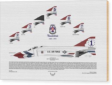 Mcdonnell Douglas F-4e Phantom II Thunderbirds Wood Print