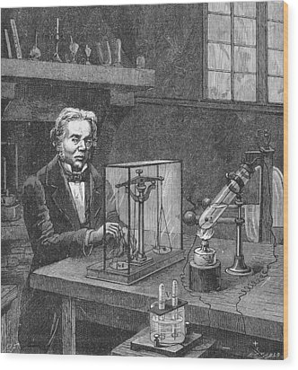 Michael Faraday (1791-1867) Wood Print by Granger