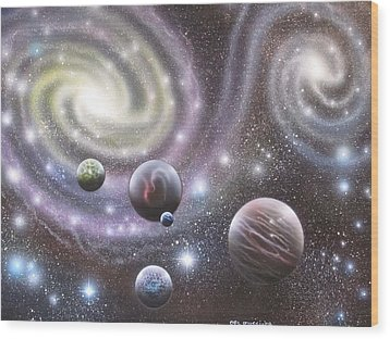 mULTIVERSE 223 Wood Print by Sam Del Russi