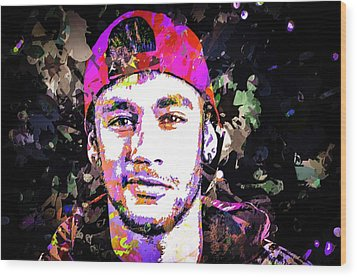 Neymar Wood Print