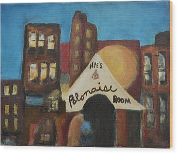 Wood Print featuring the painting Nye's Polonaise Room by Susan Stone