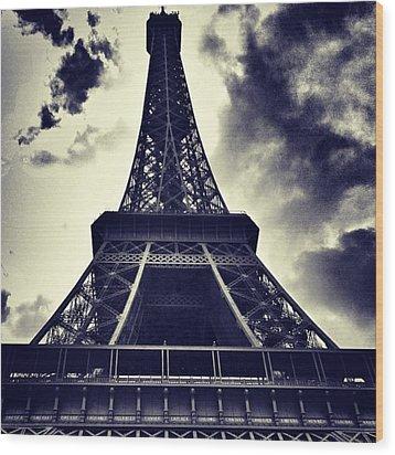 #paris Wood Print by Ritchie Garrod