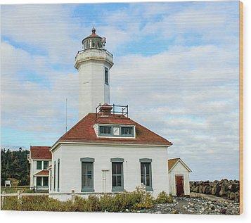 Wood Print featuring the photograph Point Wilson Lighthouse by E Faithe Lester
