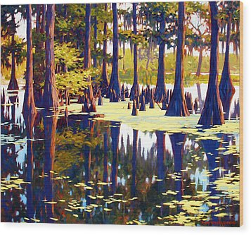 Reflections Wood Print by Kevin Lawrence Leveque