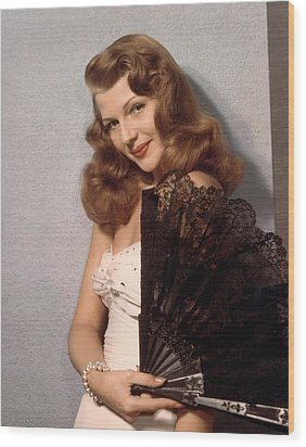 Rita Hayworth, Ca. 1940s Wood Print by Everett