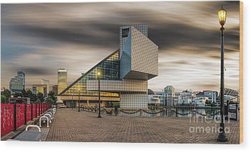 Rock And Roll Hall Of Fame Wood Print by James Dean